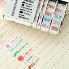 Eachgo A Korea Vintage Stamper untuk Pringting Kata-kata Tanggal DIY Notebook Photobook Scrapbook Decor-Intl