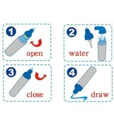 """Eason 20x14 Inch Water Mat Magic Pen Set Graffiti Menggambar Menulis BOARD Doodle Mat Bandung Photo: """"-anak, Ocean Diskon Besar-besaran-Internasional"""