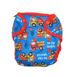 Spek Ecobum Clodi Cloth Diaper Snap Pul Fire Engine Red 2 Insert Hemp Banten