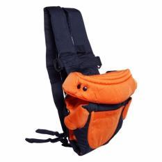 Eigia Gendongan Bayi 4 In 1 Baby Carrier Sling Backpack Portable Kangaroo Style Perlengkapan Perlak Bayi Travel Portable Orange Terbaru