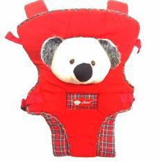 Eigia Gendongan Bayi Jesen Carrier Sling Backpack Portable Kangaroo Style Perlengkapan Perlak Bayi Travel Portable - Red
