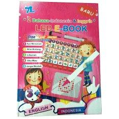 Eigia LED E-Book 2 Bahasa Indonesia & Inggris Mainan Edukasi 7L - Pink