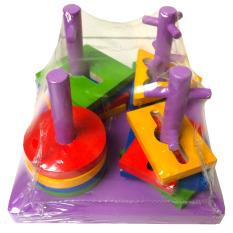 Eigia Mainan Edukasi Balok Kayu Key Tower - Ungu