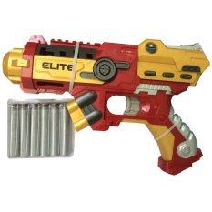 Eigia Mainan Nerf Tembakan Pistol Ironman Soft Bullet - Merah