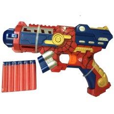 Eigia Mainan Nerf Tembakan Pistol Spiderman Soft Bullet - Merah