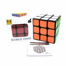 Eigia Rubik Brain Cube 3 x 3 Full Color Base Hitam Mainan Edukasi Anak Usia 3 Tahun Ke Atas Dewasa Toy Speed Puzzle Rubiks Kubus SNI Asah Otak Latih Kesabaran Ketekunan Kecepatan Tangan Toys Edukatif Aman Mudah Cepat Diputar - Multicolor