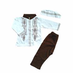 EL Baju Koko Bordir Bayi New - Baju Koko Bayi Baju Setelan Muslim Anak Laki - Laki Baju Set Anak Laki Laki