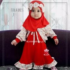 Elbi Fiola Dress by Little Bee Boutique / Baju Muslim Anak Balita / Baju Bayi / Cardigan Bayi / Baju Anak Perempuan / Gamis Bayi / Gamis Anak Balita / Dress Bayi / Dress Anak Balita