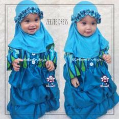 eLBi Baju Pesta Anak Balita Zeezee Dress Little Bee Boutique / Gaun Pesta Bayi 1 tahun / Busana Pesta Anak Bayi Muslim / Baju Muslim Anak Bayi dan Balita Perempuan