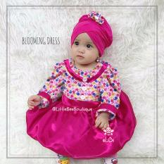 eLBi - Blooming Dress Baju Muslim Anak Balita / Gaun Pesta Bayi Muslimah by Little Bee Boutique