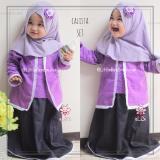 Jual Elbi Calista Set Baju Muslim Anak Balita Ungu By Little Bee Boutique Elbi Murah