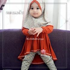 eLBi - Farah Legging Set Baju Muslim Anak Balita by Little Bee Boutique / Baju Muslim Anak Perempuan / Baju Anak Perempuan / Baju Bayi Perempuan Setelan Casual / Baju Bayi Cewek