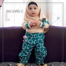 eLBi - Hana Jasmine Set Baju Muslim Anak Balita Size 1-2 Tahun