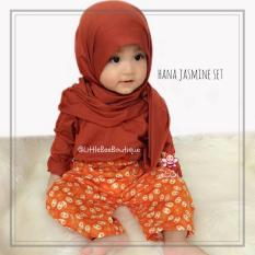 Beli Elbi Hana Jasmine Set Baju Muslim Anak Balita Size 1 2 Tahun By Little Bee Boutique