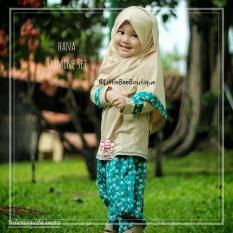 eLBi - Hana Jasmine Set Baju Muslim Anak Balita Size 3-4 Tahun