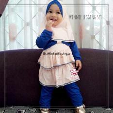 Jual Elbi Winnie Legging Set Baju Muslim Balita Setelan Bayi Perempuan By Little Bee Boutique Branded Murah
