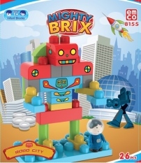 Promo Emco Mighty Brix Robo City Emco