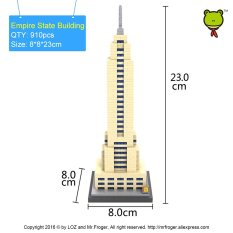 Empire State Building Diamond Block World Famous Arsitektur Toy Batu bata New York USA Cube Blok Bangunan Rumah-Intl