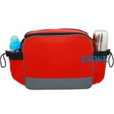 Beli Emwe Baby Bag Mini Tas Slempang Perlengkapan Makan Botol Susu Bayi Tas Selempang Tempat Makan Bekal Anak Lunch Baby Box Bag 2In1 Red Online