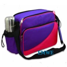 Katalog Emwe Baby Bag Mini Tas Slempang Perlengkapan Makan Botol Susu Bayi Tas Selempang Tempat Makan Bekal Anak Lunch Baby Box Bag 2In1 Ungu Terbaru