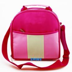 EMWE Mini Baby Bag 3 in 1 tas kecil perlengkapan makan botol susu bayi Balita diaper Tas Tempat Makan Bekal Anak sekolah Lunch Box bisa di jinjing slempang dan ransel - Hot Pink