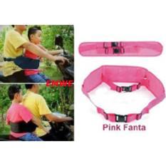 Emwe SP sabuk pinggang bonceng anak motor sabuk boncengan bayi balita berkendara sepeda motor aman - Hot Pink