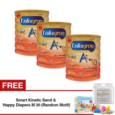 Model Enfagrow A 3 Susu Formula Vanila 800 Gr Tin Isi 3 Kaleng Gratis Smart Kinetic Sand Free Happy Diapers M 30 Random Motif Terbaru