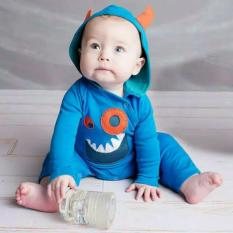 Beli Esbella Baju Bayi Long Jumper Monster Blue Seken