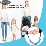 Harga Hemat Esogoal Anti Hilang Wrist Link Safety Velcro Kulit Ramah Cotton Wrist Tali Untuk Balita Bayi Anak Anak Biru 1 5 M