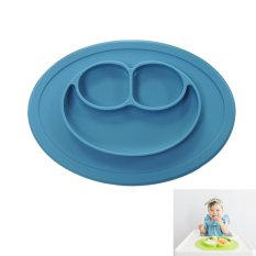 Jual Beli Esogoal Baby Feeding Piring Was The Piece Mini Happy Wajah Biru Baru Tiongkok