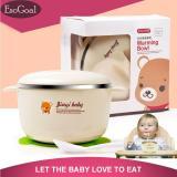 Esogoal Balita Stainless Mangkuk Dan Sendok Set Warming Bowl Dengan Sucker Silicone Untuk Memberi Makan Bayi Balita Murah