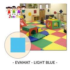 Review Evamat Polos Matras Tikar Karpet Puzzle Alas Lantai Evamat Light Blue Evamat