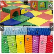 Evamat - Polos / Matras /Tikar / Karpet / Puzzle Alas Lantai Evamat Biru Muda