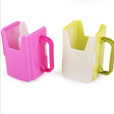 Fancyqube penjualan panas bayi balita yg membantu minum jus susu kotak dudukan pegangan cangkir yang dapat pasokan Hijau - International