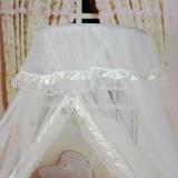 Fancyqube Summer Kelambu Baby Bed Cradle Net Balita Bayi Tidur Tenda Putri Nyamuk Mesh Blue Asli