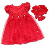 Jual Fang Fang Bayi Indah Gadis Xmas Pesta Balita Pesta Pernikahan Kontes Merah Gaun Princess Headband Charming Merah Intl Tiongkok Murah