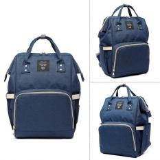 Spesifikasi Fang Fang Mummy Besar Kapasitas Paket Poliester Maternity Nappy Diaper Bag Travel Backpack Navy Blue Dan Harganya