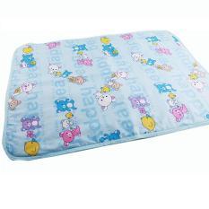 Fangfang Changing Pad Covers Reusable Popok Bayi Kasur Popok untuk Bayi Baru Lahir Pola Acak Linen Popok Waterproof Sheet-Biru S -Intl