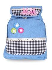 Farrel Cute Flower Backpack - Blue