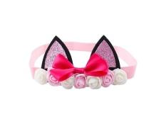 Fashion Bayi Girls Kids Bando Kepala Ikatan Simpul Rabbit Ear Headband Cat Ear Hiasan Kepala-Intl