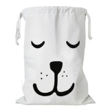 Beli Fashion Cute Kartun Canvas Drawstring Storage Bag Kids Mainan Pakaian Buku Laundry Bag Organizer Keranjang Untuk Anak Anak Room Nursery Home Dekorasi Sleeping Bear Style Intl Oem