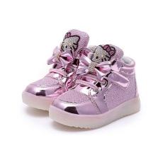 Toko Fashion Girls Hello Kitty Character Led Shoes Pink Terdekat