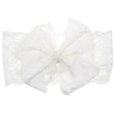 Fashion Girls Lace Big Bow Hair Band Baby Head Wrap Band Accessories - intl