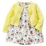 Harga Fashion Bayi Setelan Gaun Bermotif Bunga Bunga Yang Cantik With Kardigan Kuning Internasional Lengkap