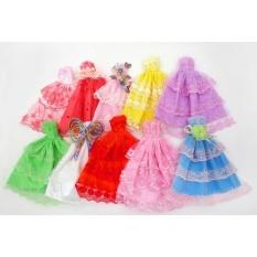Fashion Baju Pesta Gaun Putri Pakaian Pakaian untuk 11in Boneka Barbie  (Gaya Acak)- d3962d6bd7