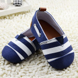 Jual Beli Fashion Striped Baby G*Rl Boy Sepatu Katun Lembut Non Slip Pertama Walkers 18 Bulan Balita Bayi Slip On Shoes