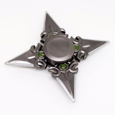 Fidget Spinner Genji Naruto Sasuke Ninja Kunai Quad Shuriken Metal Hand Finger Toys for Focus Anxiety