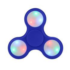 Fidget Spinner LED Light Hand Toys Tri-Spinner EDC Ball Focus Game Lampu LED Random Color