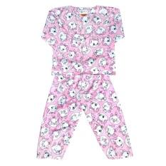 Fio Online - Hoshi -  piyama - Baju Tidur setelan - anak  3 sampai 4 tahun - motif Cat Kucing