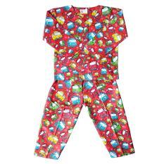 Fio Online - Hoshi -  piyama - Baju Tidur setelan - anak 5 sampai 7 tahun - motif Tayo Merah